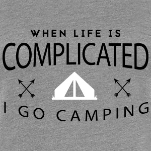 Camping: when life is complicated T-Shirts - Women's Premium T-Shirt