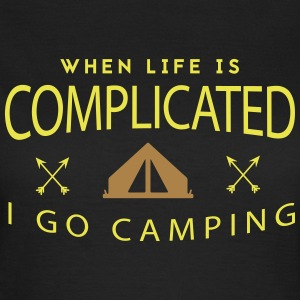 Camping: when life is complicated T-Shirts - Women's T-Shirt