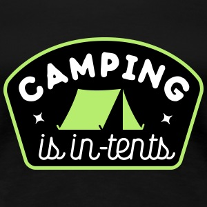 camping is in-tents Tee shirts - T-shirt Premium Femme