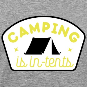 camping is in-tents Tee shirts - T-shirt Premium Homme
