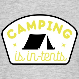 camping is in-tents T-shirts - Mannen T-shirt