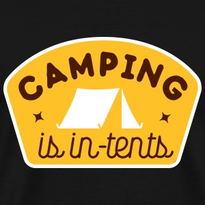 camping is in-tents Camisetas - Camiseta premium hombre