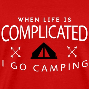 Camping: when life is complicated T-shirts - Herre premium T-shirt