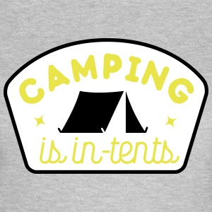 camping is in-tents Tee shirts - T-shirt Femme