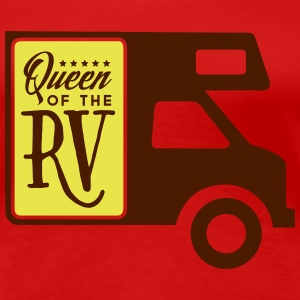 Camping: queen of the rv T-skjorter - Premium T-skjorte for kvinner