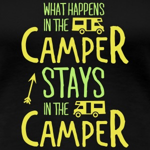 what happens in the camper... T-shirts - Dame premium T-shirt