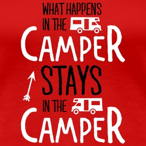 what happens in the camper... T-skjorter - Premium T-skjorte for kvinner