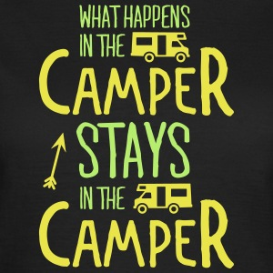 what happens in the camper... T-shirts - Vrouwen T-shirt