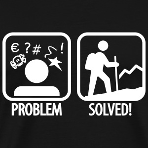 hiking: problem solved Tee shirts - T-shirt Premium Homme