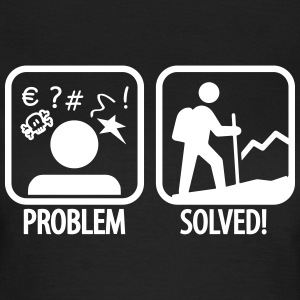 hiking: problem solved T-Shirts - Frauen T-Shirt