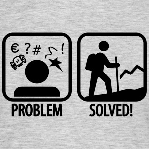 hiking: problem solved T-shirts - Mannen T-shirt