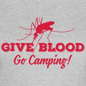 give blood go camping Tee shirts - T-shirt Femme