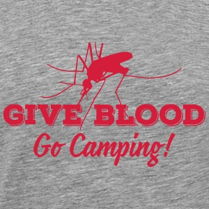 give blood go camping T-shirts - Herre premium T-shirt