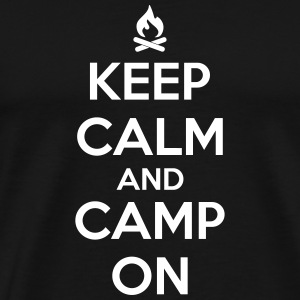 camping: keep calm and camp on T-skjorter - Premium T-skjorte for menn