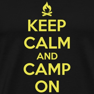 camping: keep calm and camp on T-Shirts - Männer Premium T-Shirt