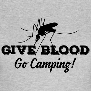 give blood go camping Camisetas - Camiseta mujer