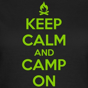 camping: keep calm and camp on T-Shirts - Women's T-Shirt