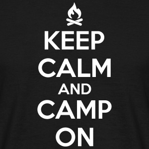 camping: keep calm and camp on Camisetas - Camiseta hombre