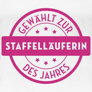 Staffelläufer / Staffelläuferin / Leichtathletik T-Shirts - Frauen Premium T-Shirt