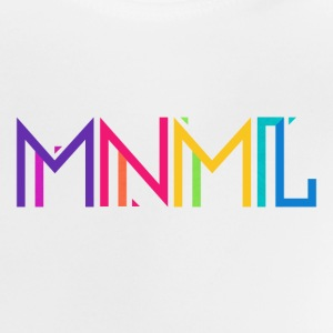 Minimal Type (Colorful) Typograhoy - MNML Design Baby T-Shirts - Baby T-Shirt