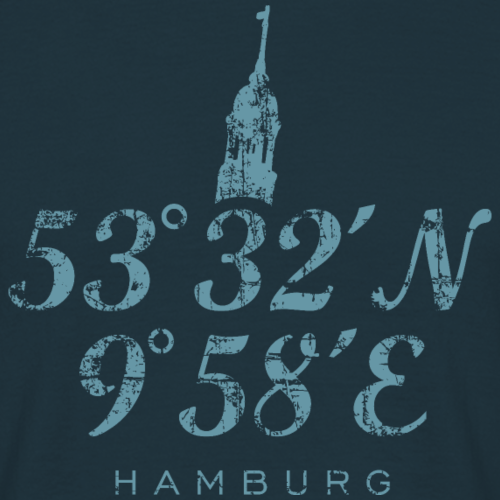 Hamburg Koordinaten Michel Vintage Hell