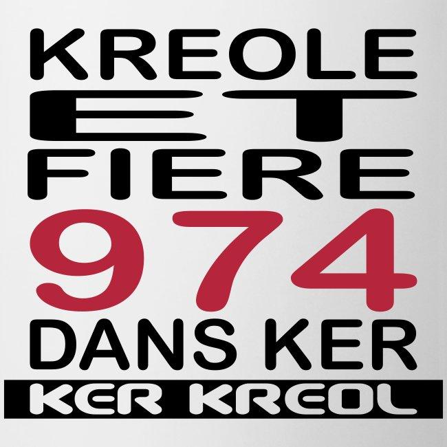 Tasse Kreole et Fier 974 dans Ker - 974 Ker Kreol
