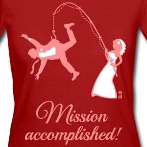 Mission Accomplished / Bride Fishing Husband T-Shirts - Women's Organic T-shirt