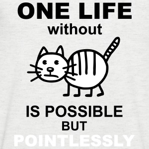 Life without cat - V2 T-Shirts - Men's V-Neck T-Shirt