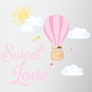 Balloon Sweet Love - Tasse zweifarbig