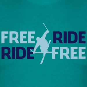 Freeride, ride free - Männer T-Shirt