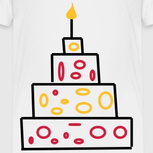 Geburtstag Kerzen Kuchen Kind bebis Birthday T-Shirts - Teenager Premium T-Shirt