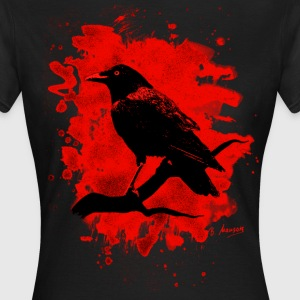 Crow bleached red - Frauen T-Shirt