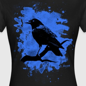 Crow bleached blue - Frauen T-Shirt