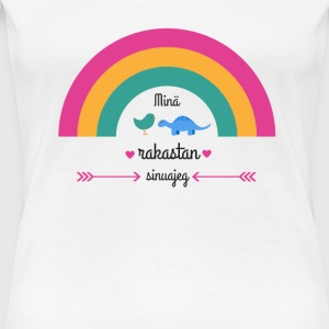 I LOVE YOU RAINBOW  - Frauen Premium T-Shirt