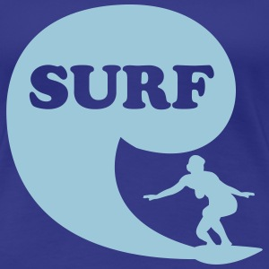 Surfin' Bird - surf T-Shirts - Women's Premium T-Shirt