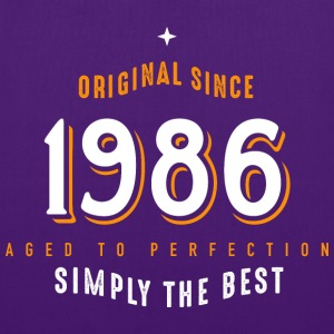 original since 1986 simply the best 30th birthday - Stoffbeutel