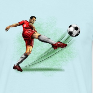 soccer player T-shirts - Herre-T-shirt