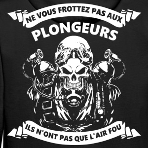 Plongeur a l'air fou Sweat-shirts - Sweat-shirt à capuche Premium pour hommes
