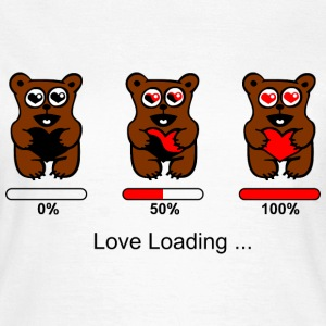 verliebter Bär - Love loading T-Shirts - Frauen T-Shirt