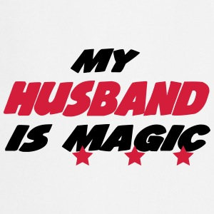 My husband is magic  Aprons - Cooking Apron