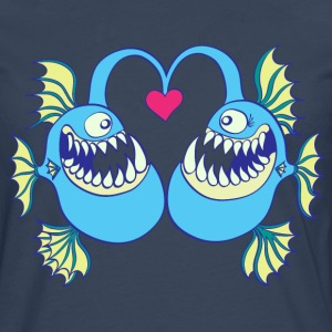 Abyssal Fishes in Love Long sleeve shirts - Men's Premium Longsleeve Shirt