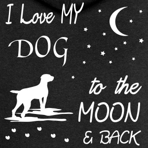 love my dog to the moon Pullover & Hoodies - Frauen Premium Kapuzenjacke
