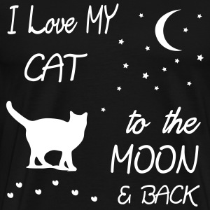 love my cat to the moon T-Shirts - Männer Premium T-Shirt