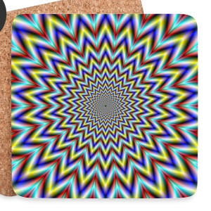Pulsar in Red Yellow and Blue - Coasters (set of 4)