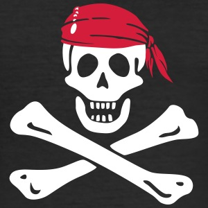 Jolly Roger Piratenflagge T-Shirts - Männer Slim Fit T-Shirt