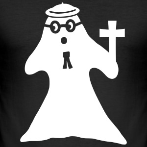 Ghost with cross T-Shirts - Men's Slim Fit T-Shirt