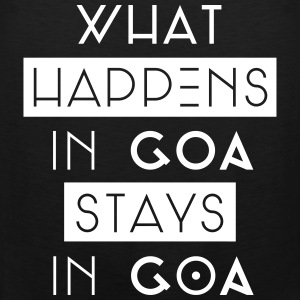 what happens in goa stays in goa Tank Tops - Männer Premium Tank Top