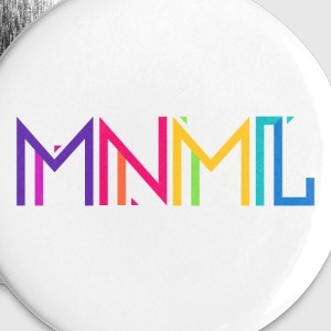 Minimal Type (Colorful) Typograhoy - MNML Design Bottoni & spille - Spilla piccola 25 mm