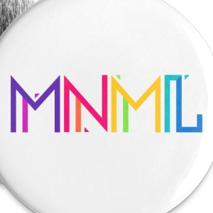 Minimal Type (Colorful) Typograhoy - MNML Design Buttons - Buttons small 25 mm
