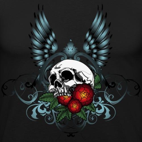 Skull Rose & Wing